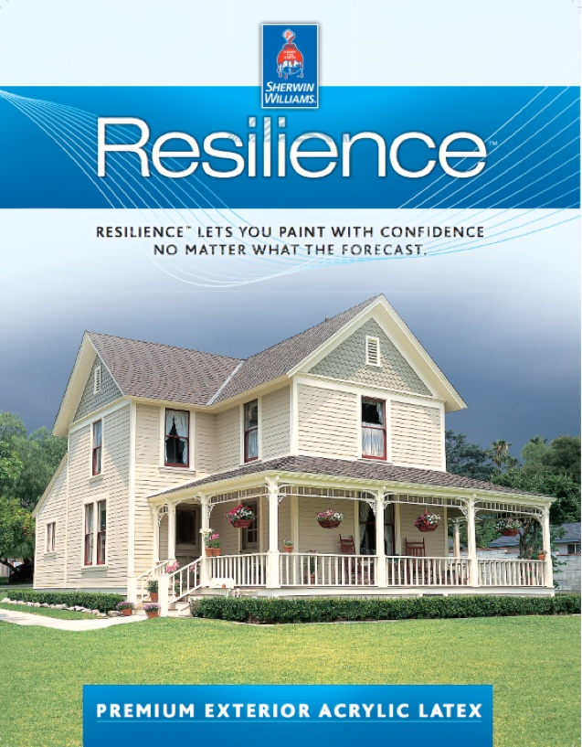 Wilmington de professional house painter uses sw resilience exterior paint for Sherwin williams exterior paint reviews 2015